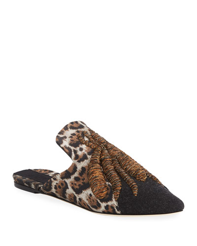 Ragno Collage Slipper Mule