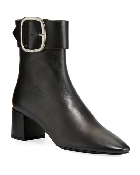 LouLou Leather Buckle Booties