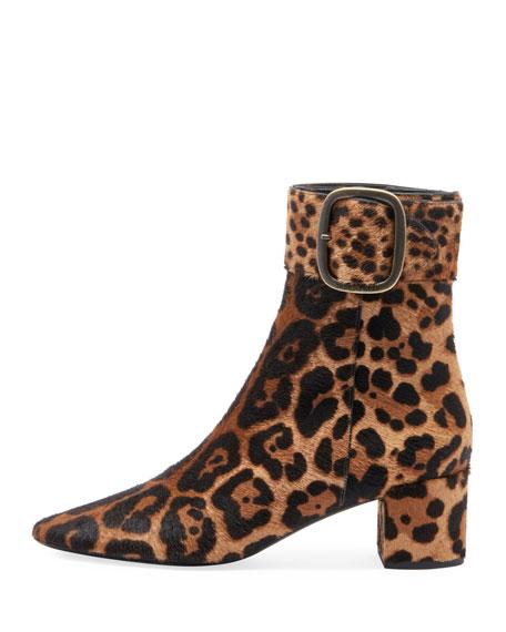 Joplin Leopard-Print Fur Bootie