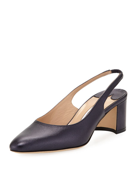 Allurasa Slingback Leather Pumps, Navy