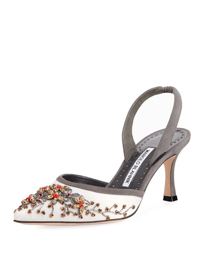 Carolyne Beaded Slingback Pump