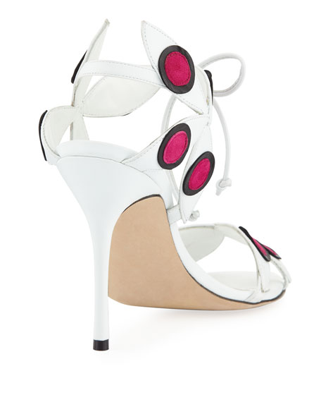 Pinwheel Colorblock Leather Sandal