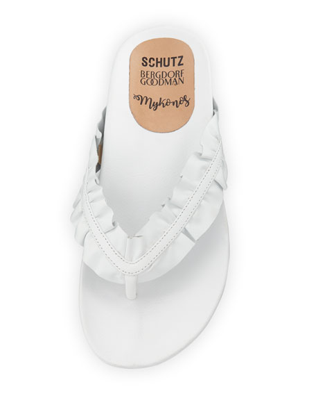 Mykonos Ruffle Thong Sandal