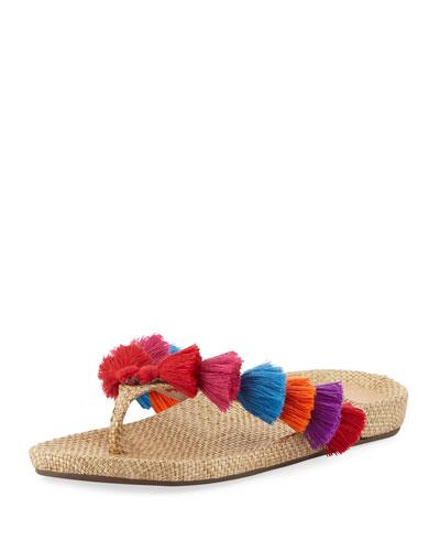Barcelona Tassel Thong Sandal