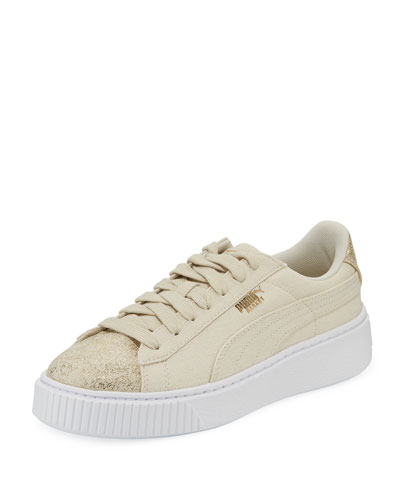Basket Platform Canvas Sneakers