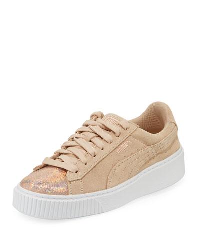 Lunalux Suede Platform Sneakers