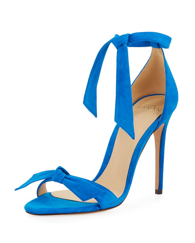 Clarita Suede Knotted Sandal