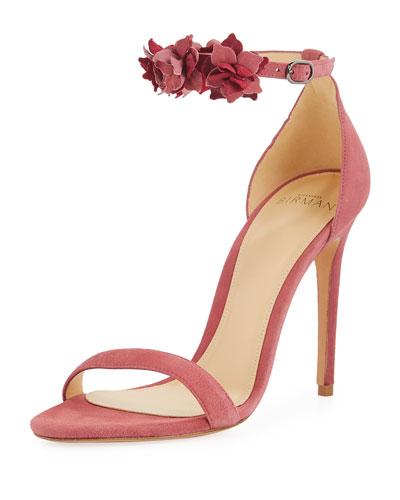 Ditsy Suede Flower d'Orsay Sandal