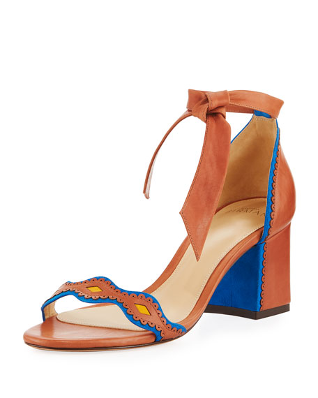 EMBROIDERED KNOTTED SANDAL
