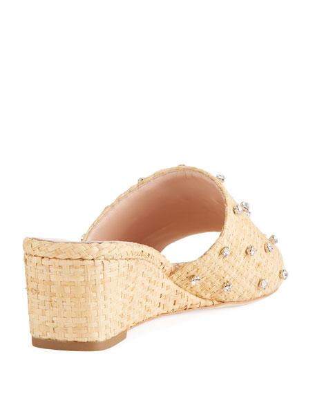Tilly Woven Studded Wedge Slide Sandal