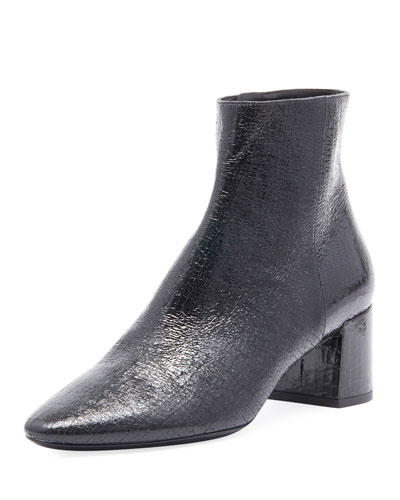 LouLou Cracked Patent Bootie