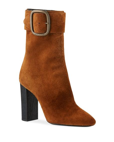 Joplin Suede Ankle Boots - Camel Size 8.5