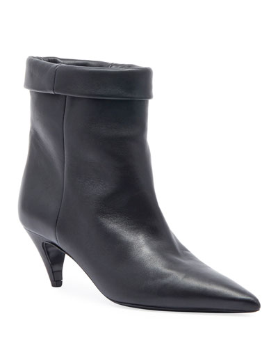 Fold-Over Pointed Bootie