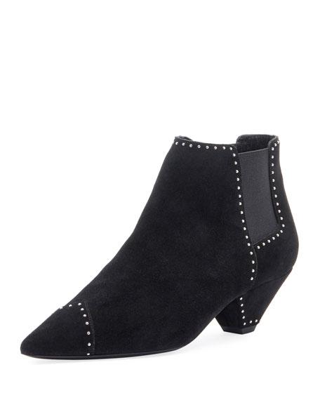 Blaze Studded Suede Chelsea Boots - Black Size 8.5