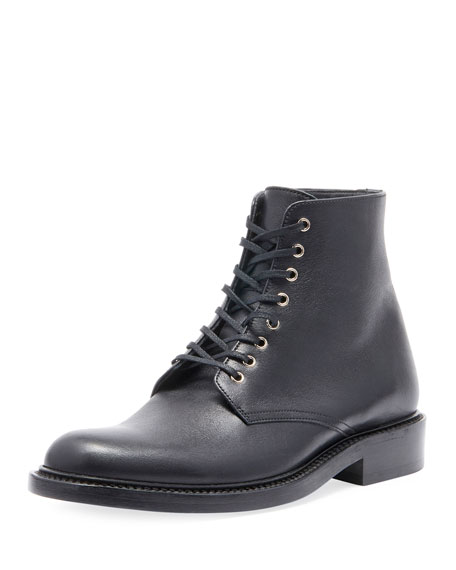 b44f989e77d Saint Laurent Army Leather Ankle Boots - Black Size 6 In 1000 Black ...