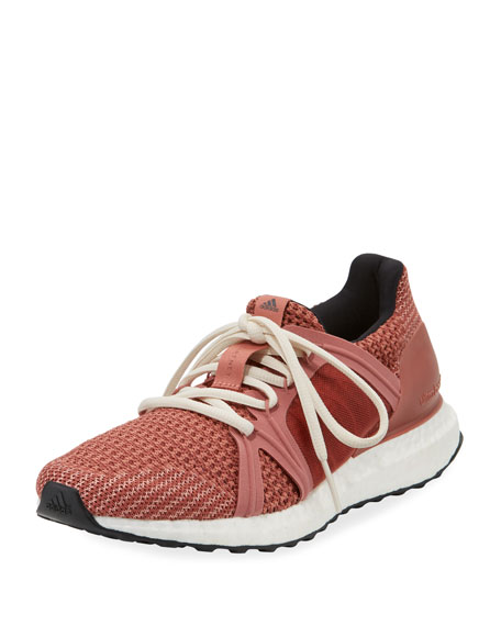ADIDAS BY STELLA MCCARTNEY Ultraboost Knitted Trainer/Runner Sneakers, Raw Pink/Cof Rose