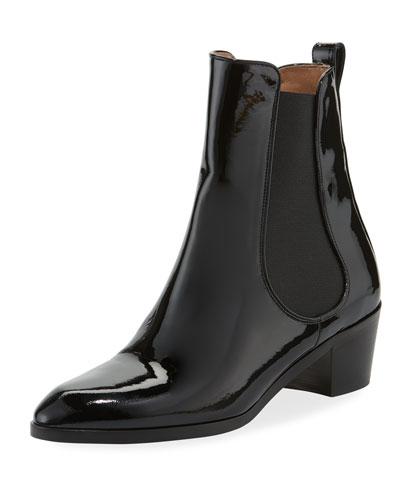 Kilian Patent Block-Heel Booties