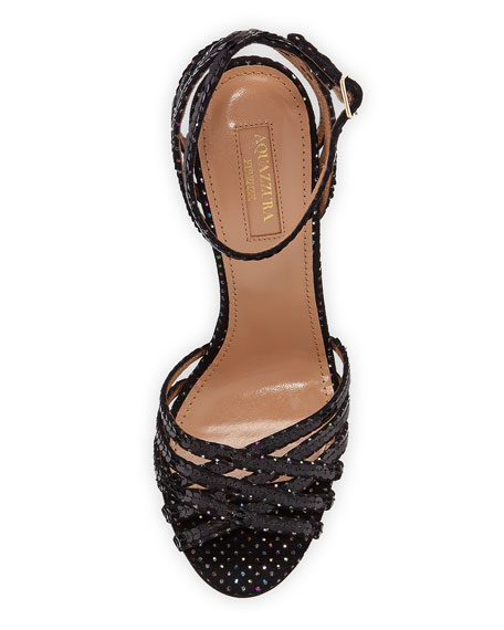 Studio Sequin Sandals with Ankle Strap Velvet
