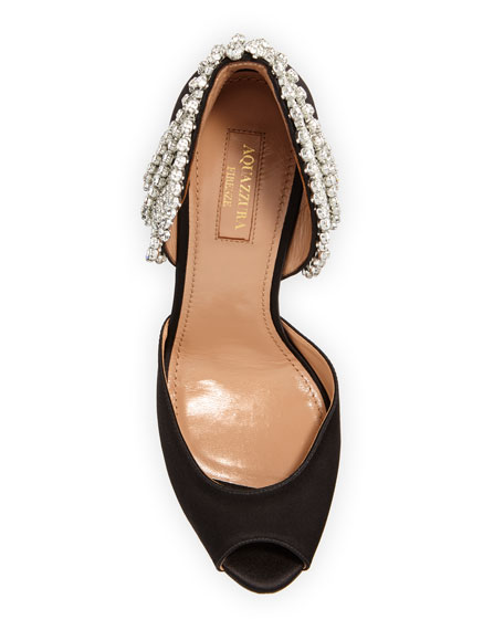 Concorde Embellished Satin High-Heel d'Orsay Sandals