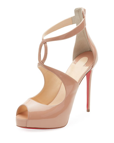 Rosie Patent Platform Red Sole Pumps