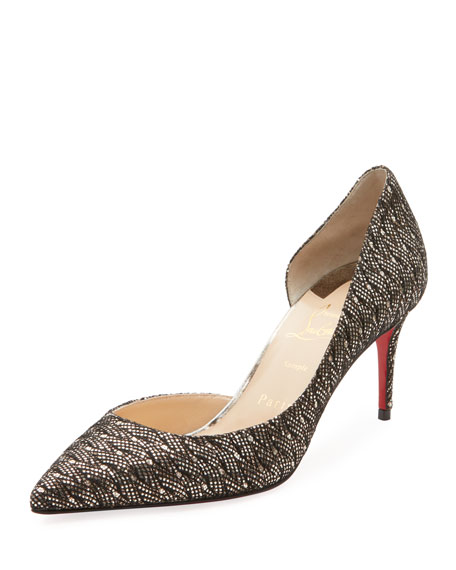 Iriza Glitter Palaces Red Sole Pump by Christian Louboutin