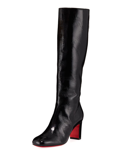 Christian Louboutin Cadrilla Botta Patent Red Sole Boots