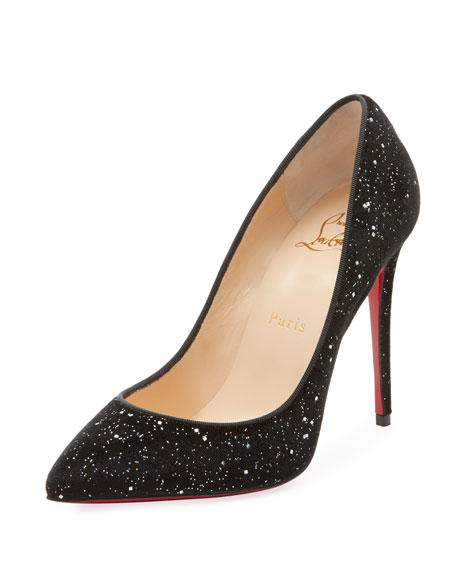 Pigalle Follies Galactic Red Sole Pumps, Black