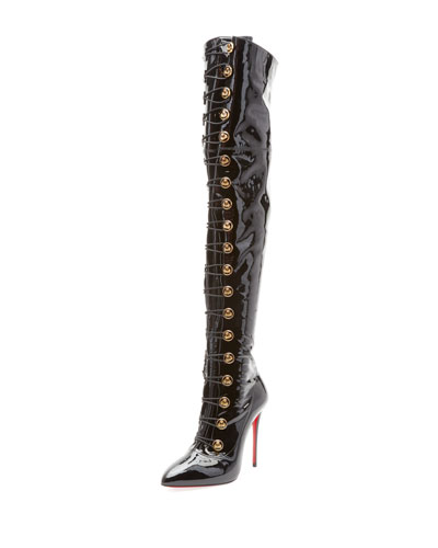 Frenchissima Over-The-Knee Patent Leather Boot