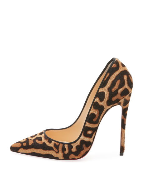 SO KATE LEOPARD-PRINT RED SOLE PUMPS