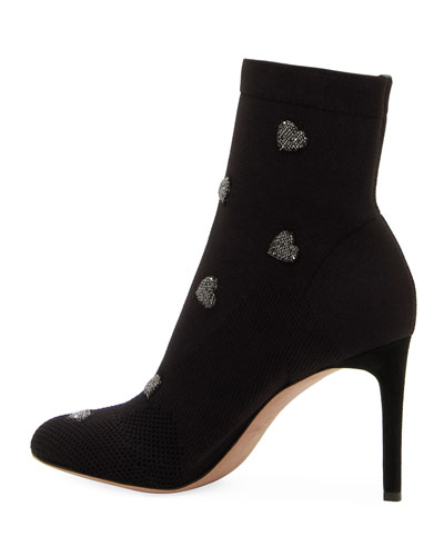 Rockstud Hearts Bodytech Stretch Booties