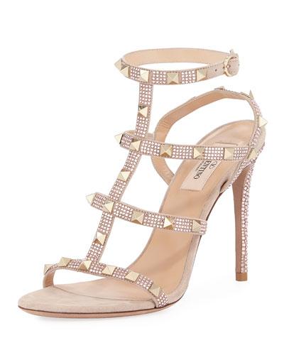 Rockstud Glam Suede Sandal