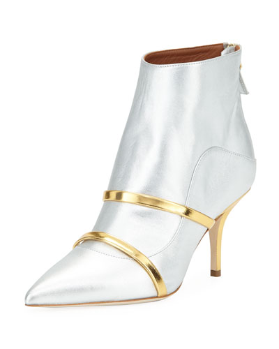 Madison Two-Tone Metallic Booties