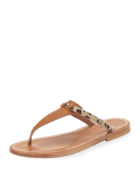 K.jacques COLUMBIA SLIDE SANDALS, LEOPARD