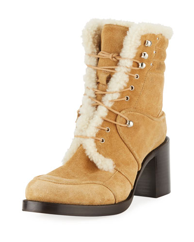 Leo Suede Lace-Up Booties