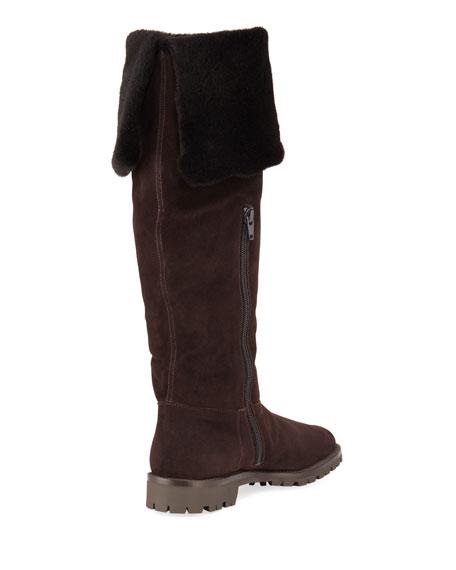 Fold-Down Fur Tall Boots