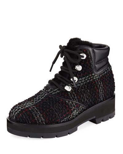 Dylan Lace-Up Plaid Hiking Boot