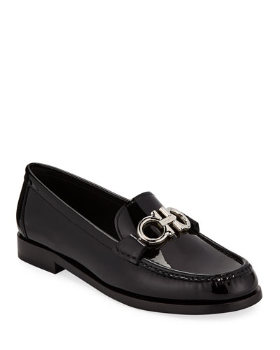 Rolo Patent Leather Loafer with Gancini Bit