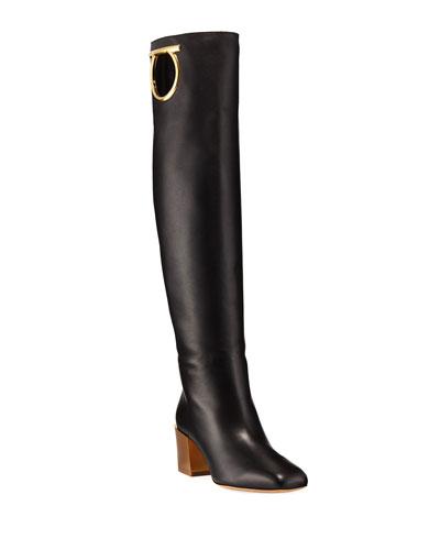 Avio Knee-High Leather Boot