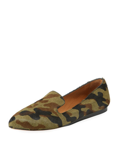 Griffin Camouflage Fur Loafers