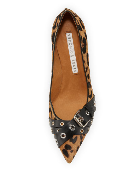 Mel Leopard-Print Buckled Calf Hair Pumps