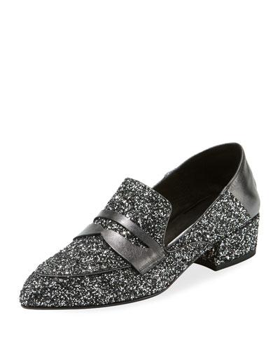 Corban Glitter Penny Loafers