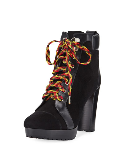 Axel Lace-Up Platform Booties