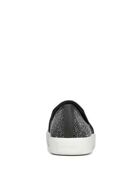 Blair-5 Tweed Slip-On Skate Sneakers