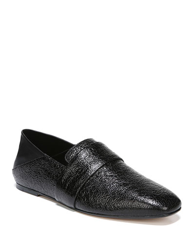 Harris Crackled Flat Loafers