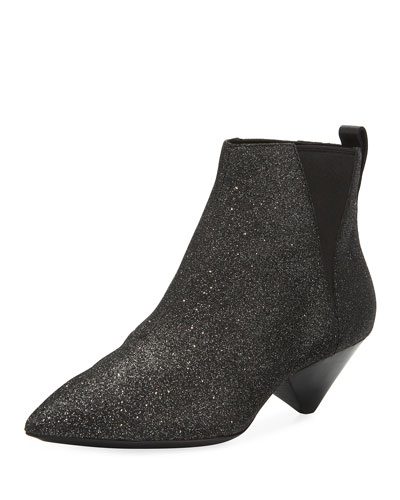 Cosmos Glitter Pointed Bootie