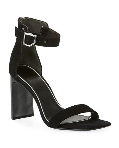 Ellis Suede Ankle-Wrap Sandal