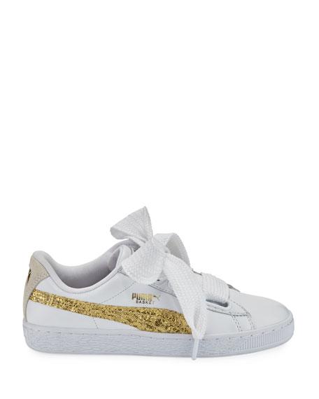 new styles fce25 f110d Basket Heart Glitter Sneakers