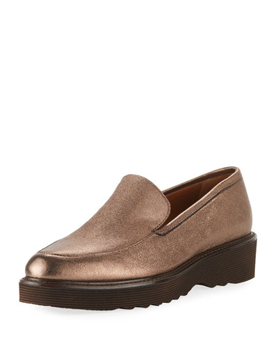 Kelsey Metallic Platform Loafers