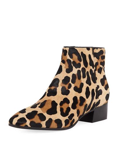 Fuoco Leopard-Print Booties
