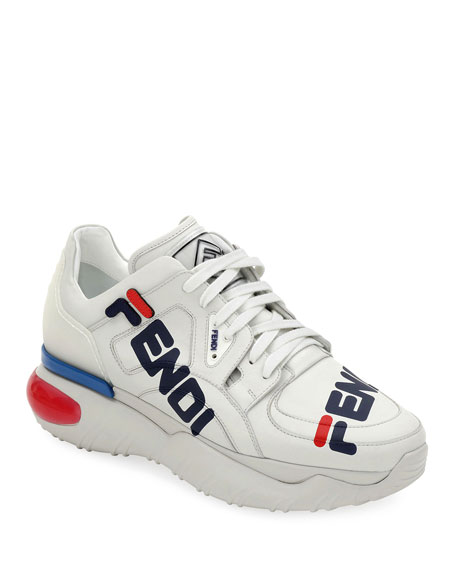 f08a1da6caa2 Fendi Fendi Mania Leather Sneakers